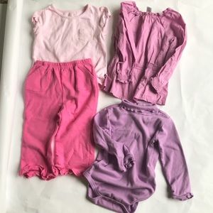 4 piece lot toddler girl's clothes gently used.